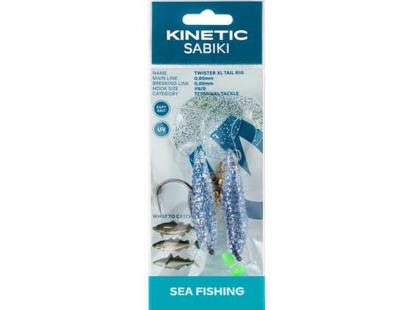 Bild på Kinetic Sabiki Twister XL Tail Blue/Silver #8/0