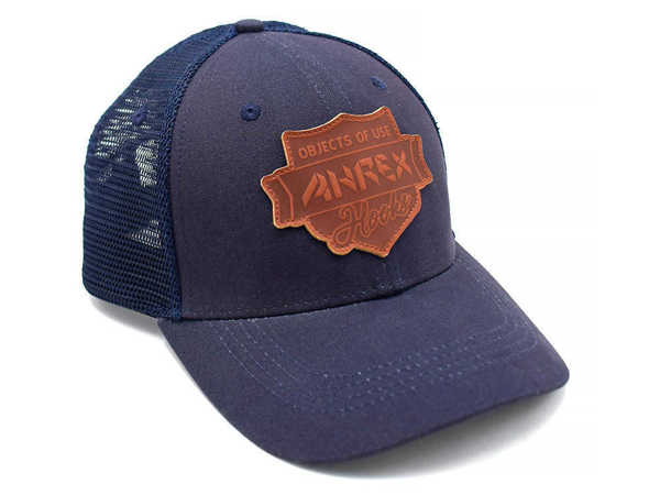 Bild på Ahrex Leather Patch Trucker Navy