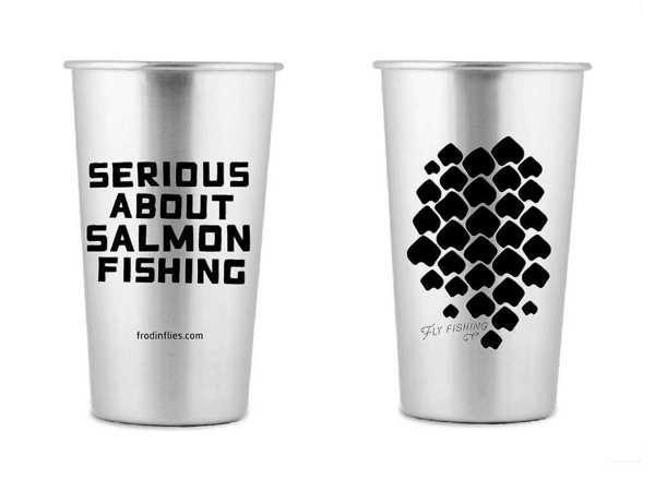 Bild på Frödin Stainless Steel 'Scales' Pint Cup