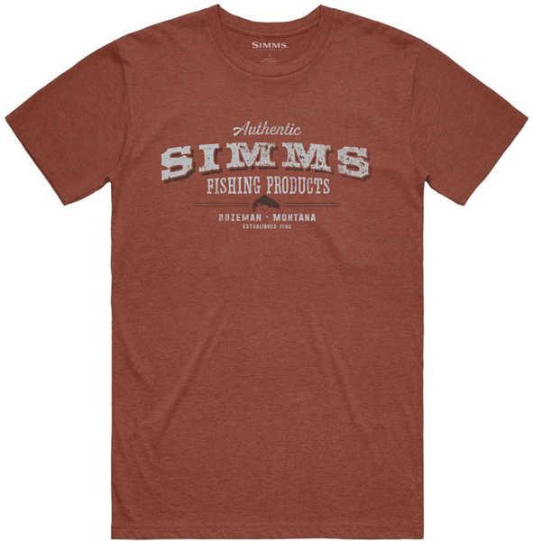 Bild på Simms Working Class T-Shirt Red Clay Heather