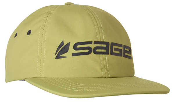 Bild på Sage Relaxed Nylon Hat Logo Green